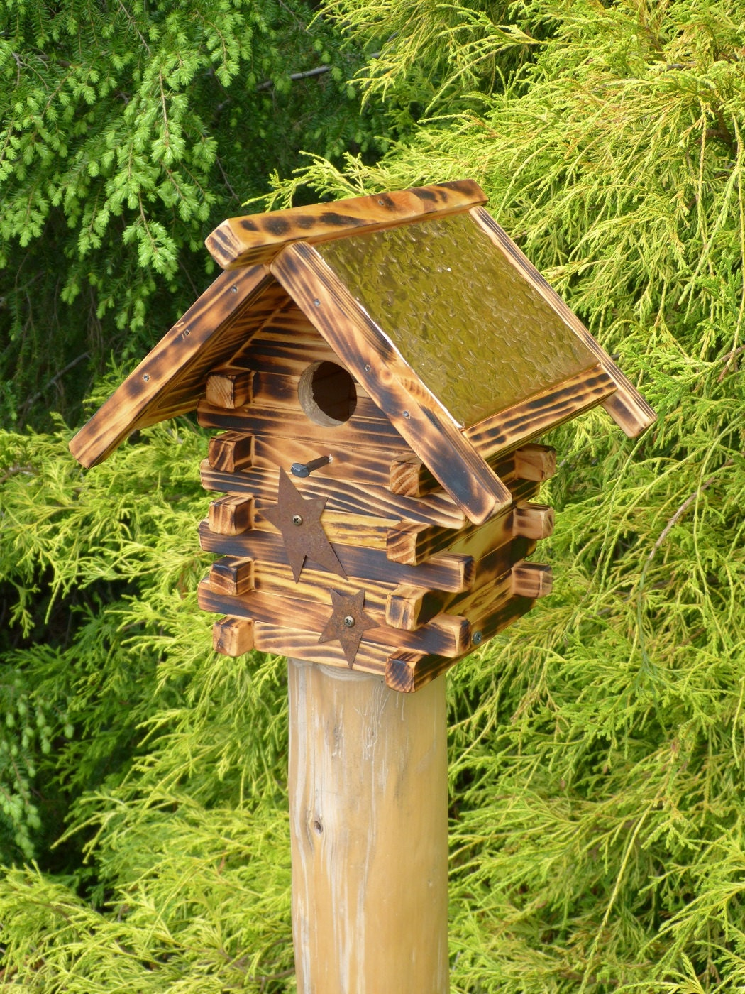 rustic log cabin birdhouses - photo #30