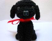 Black Labrador Retriever Crochet Dog, Amigurumi, Canine,Stuffed Animal