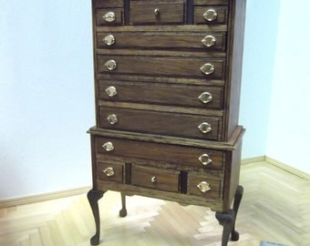 Miniature Highboy Dresser