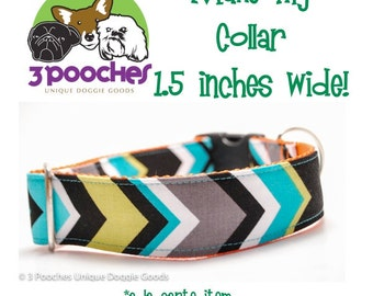 1.5 inch Width Upgrade - 3 Pooches Collars / Add-on Item ONLY