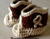 BOOT SCOOTEN Infant Baby Cowboy Boot Booties Crib Shoes Baby Shower Gift (Ready to Ship)