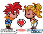 Chrono Trigger Marle and Crono Kissing Gamer Wedding Cake Toppers