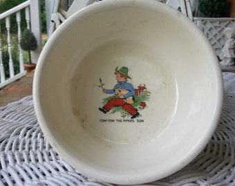 Vintage Antique Tom Tom the Pipers son bowl child cereal