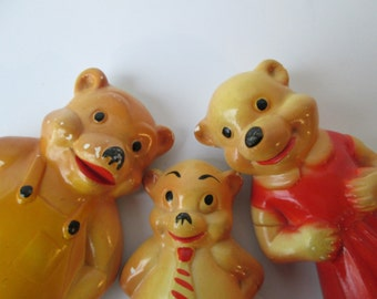 The Three Little Chalkware Bears