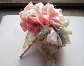 Vintage Fabric Flower Pom