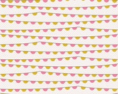 Riley Blake, Remember, Banner, Cream & Pink Fabric, Carina Gardner, Designer Cotton Quilt Fabric, Quilting Fabric