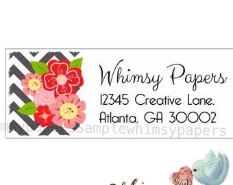Wildflower Return Address Labels - Glossy