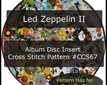 Led Zeppelin Cross Stitch Charts --PDF Instant Download or Letter Post on a CD or Custom Kit Available