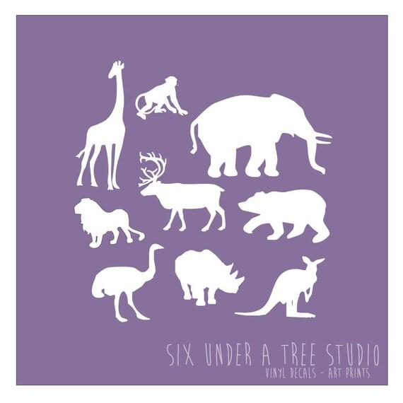 Wild Animals Wall Vinyl Decals Art Graphics Stickers