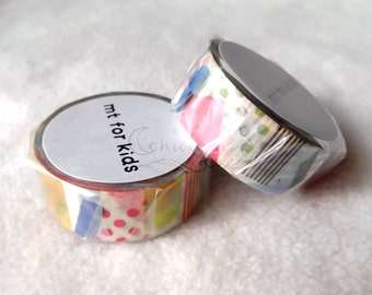 mt for kids Washi Masking Tape - Ten Ten / Peta Peta / Shima Shima - 2014AW