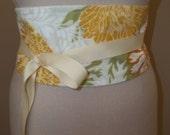 Obi Belt Orange and Yellow Floral Sash