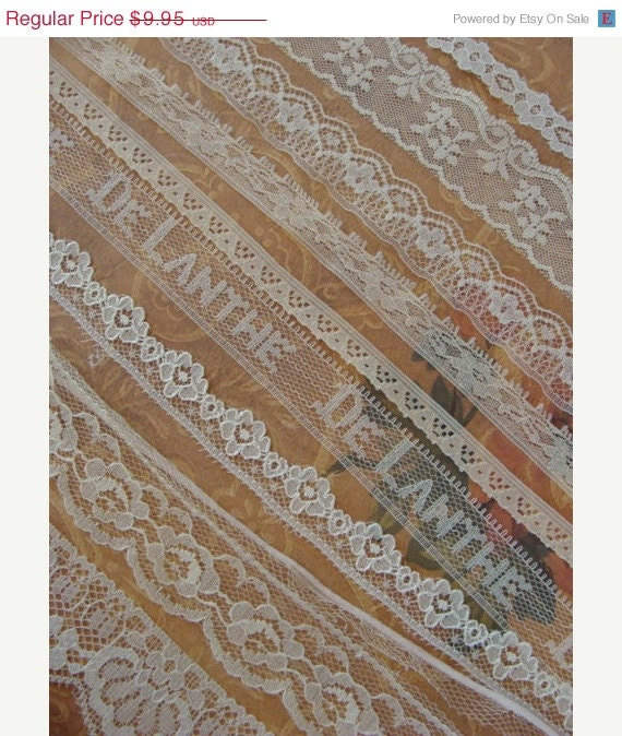 Clearance Sale 9 Yards Vintage and Antique Lace Lot N024 9 Yards