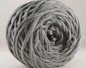 Hand Dyed T Shirt Yarn- Gray 60 Yards
