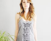 Wolf Totem || womens racerback tank top, jersey wolf printed tank, wolf totem, wolves, wolf, gifts for her, wolf gifts || by Simka Sol