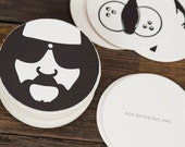 Big Lebowski Coasters - Letterpress Men Gift Him Dude