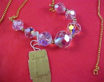 Fabulous LAGUNA Pristine Genuine CRYSTAL Necklace