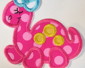 Iron On Applique - Girl Dinosaur 123990