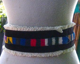 40s 50s GUATEMALAN Belt FIESTA Colors Mexican