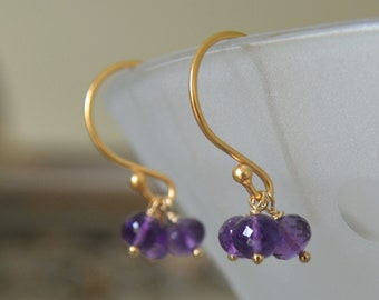 Amethyst Earrings February Birthstone