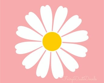 Daisy wall decals, girl wall decals, Baby Girl Nursery, daisy wall art, Flower Decals, 30 flowers, daisy stickers, flower wall decals, daisy