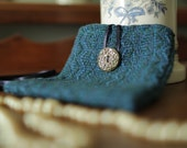 Small Handwoven Purse with Handmade Button