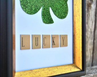 St. Patrick's Day Framed Lucky Shamrock