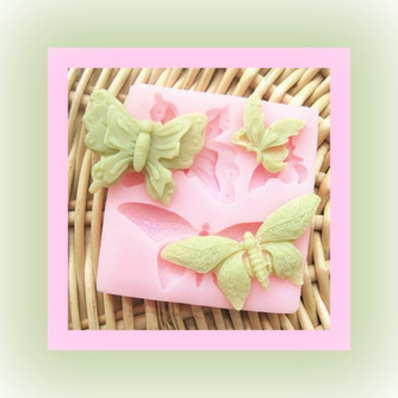 Butterfly mold soft silicone fondant decorating butterfly shape soap