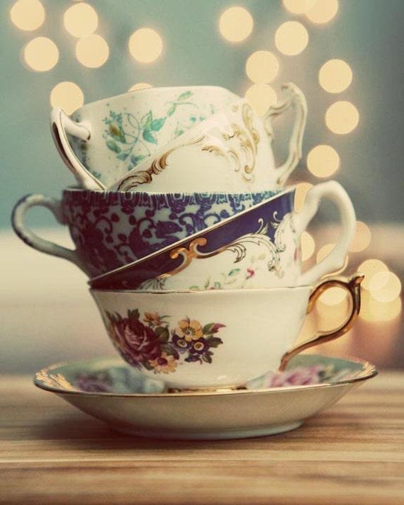 vintage teacup tea cup-#45