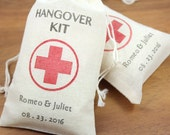 "100 Personalized Hangover Kit Favor Bags 3.25"" x 5"" -   DIY wedding favors, shower favors, birthday favors"