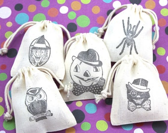 Halloween Treat Bags Set of 10 - Mix and match - party favors, birthday, trick or treat