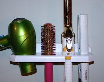 Hair Blow Dryer Curling Iron Brush Flat Iron Shelf Holder Bath Bathroom Organizer Salon USA DFCB-E