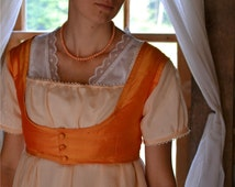 Gold Orange Silk Regency Weskit