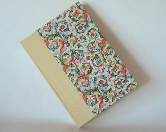Lined blank book journal - 6x8.5in 15x22cm - yellow with Florentine paper cover - Ready to ship