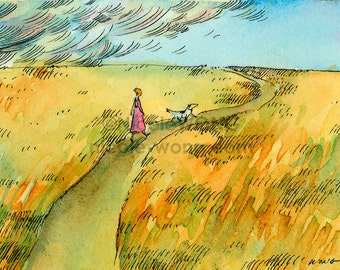 Archival ACEO Print -- Walk before the Storm
