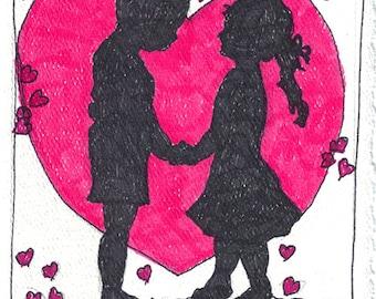 Valentines Day blank notecard V002