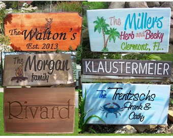 Camping Signs - Personalized - how you would like it.