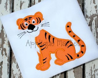 Machine Embroidery Design Applique Tiger 2  INSTANT DOWNLOAD