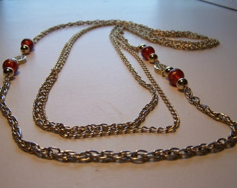 Vintage Three chain necklace
