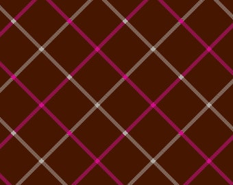 Camelot Fabrics -Handpicked Plaid in Brown - 1 yard