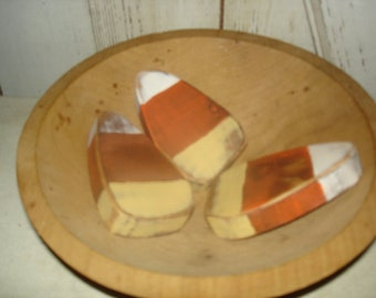 Wood Candy Corn Bowl Fillers, Primitive, Rustic, Bowl Fillers, Halloween, Fall, Candy, Ofg, Faap, Hafair, Dub