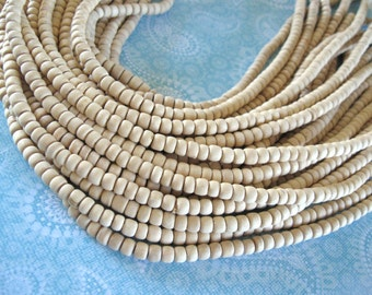Unfinished wood beads 80 Natural wood beads 4-5mm beads #PB224