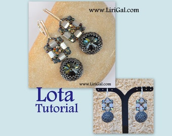 Lota Rivoli-Tila Beadwork Earrings-Pendant PDF Tutorial