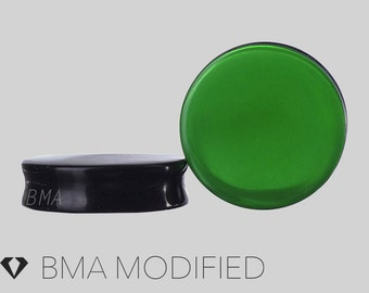 2g Forest Green Glass Plugs (6mm)
