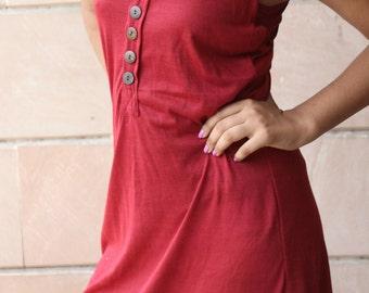 Wine Color Easy Breezy Sleeveless Dress