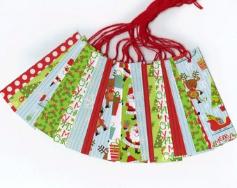 Skinny Tags // I Believe In Santa Christmas Collection Gift Hang Tags (20) Package Decor