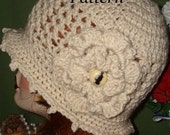 Pattern-Summer Time Crochet V Stitch Cloche Flapper Hat (Pattern download by digital copy)(Pattern Only) May Sell Finished Item