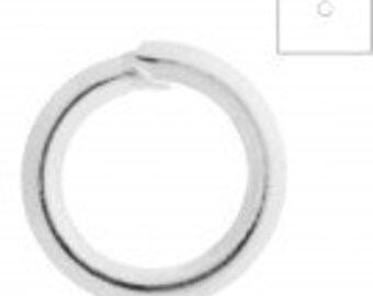 Jump Rings, Silver Plated, 4mm round, 21gauge, Pack of 100