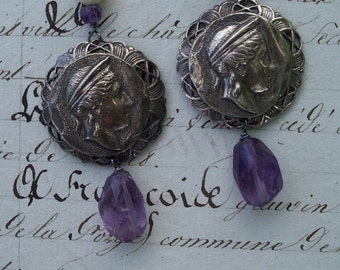 Goddess - Vintage Assemblage Earrings