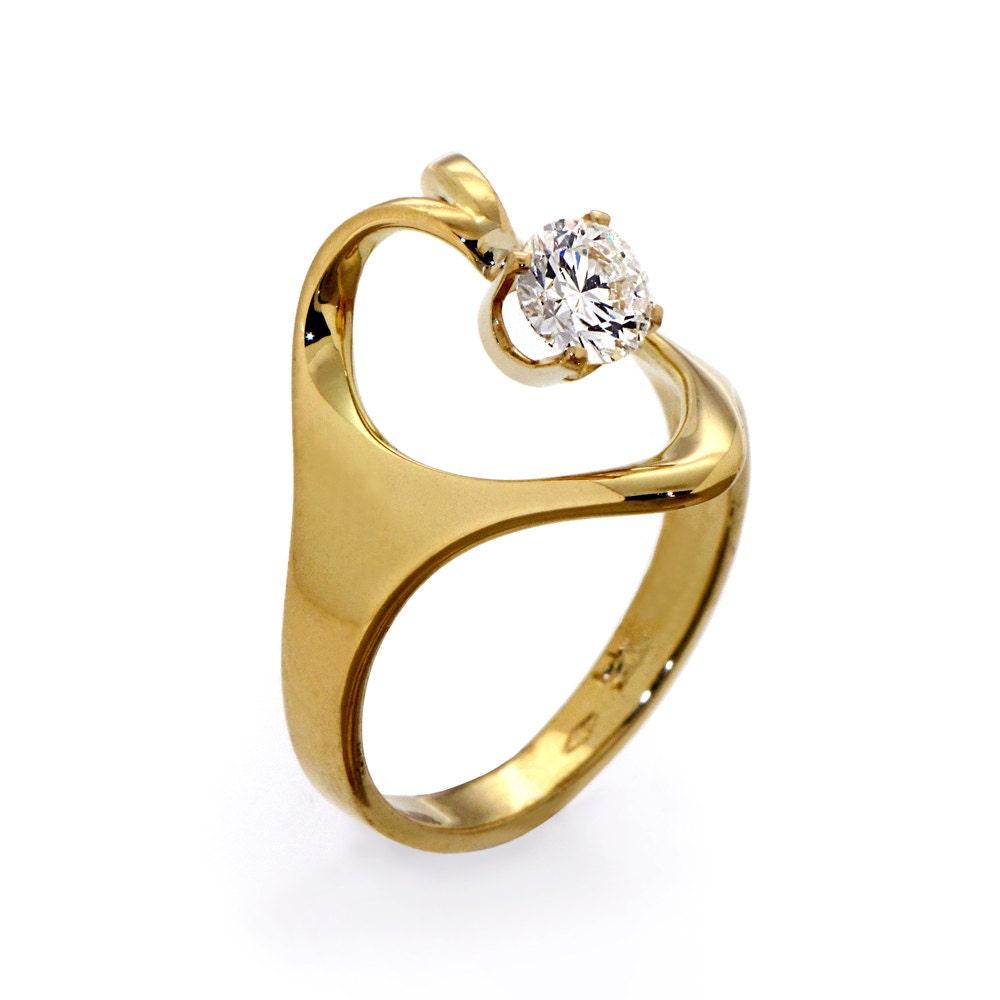 ISIDE Solitaire Diamond Ring Half Carat Diamond Ring by arosha