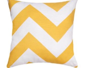 CLEARANCE - Premier Prints Zippy Corn Yellow Chevron Decorative Throw Pillow Free Shipping